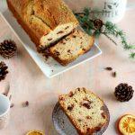 Plumcake con mirtilli essiccati, cedro candito, panna e mascarpone